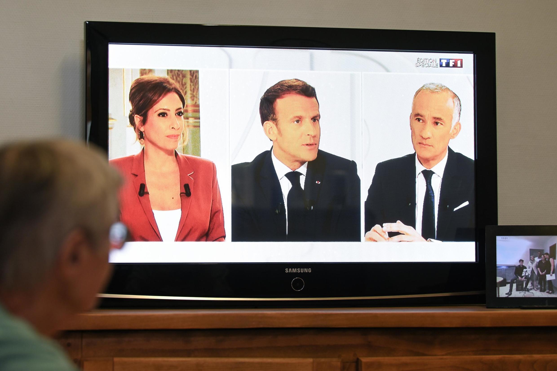 O Presidente da República respondeu esta terça-feira às perguntas de Léa Salamé e Gilles Bouleau na televisão privada TF1 e pública France 2.