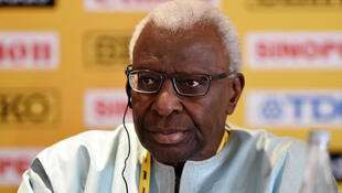 Lamine Diack, the former head of the IAAF. A Japanese businessman admits to giving him gifts as part of his lobbying efforts to secure the 2020 Olympic games for Tokyo. French prosecutors are investigating corruption allegations linked to the bid.
