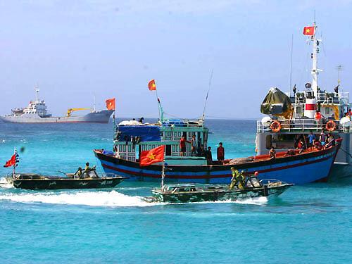 Tàu cá trên Biển Đông.