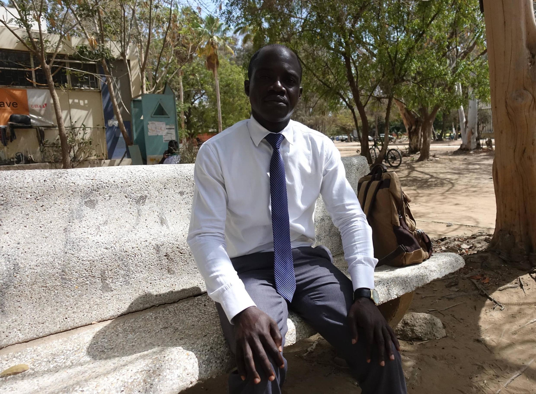 Portrait de Paul Mwilambwe, le principal témoin de l'assassinat de Floribert Chebeya, en mai 2019 au Sénégal.