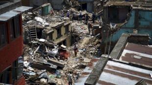 Sankhu- Nepal sau hai trận động đất ngày 25/04 và 12/05/2012.