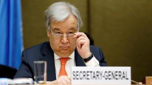 Le chef de l'ONU à Genève, en Suisse, le 3 avril 2018.