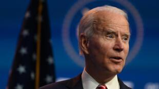 Esta foto de archivo muestra al presidente electo de Estados Unidos, Joe Biden en Wilmington, Delaware, el 16 de noviembre de 2020