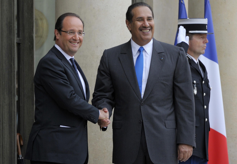 Le Premier ministre qatarien Hamad Bin Jassim Al-Thani lors de sa visite à Paris, le 7 juin 2012.