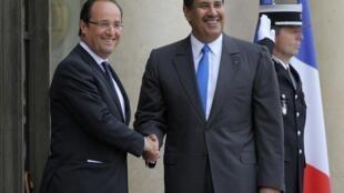 El premier qatarí Hamad Ben Jasem Al-Thani durante su visita a París, el 7 de junio de 2012.