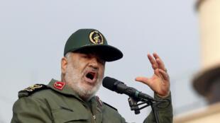 Le chef des Gardiens de la révolution iranienne, le général Hossein Salami, à Téhéran, le 25 novembre 2019.