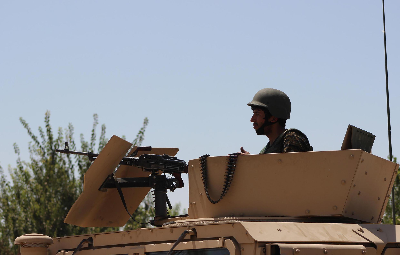 Les forces afghanes se préparant au combat, dans le nord de la province de Kunduz, le 20 août 2016.