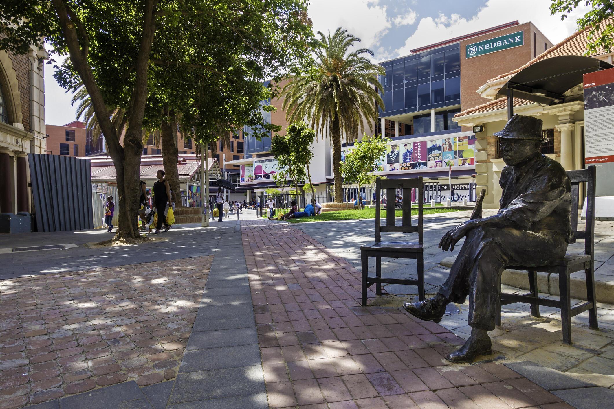 La statue de Kippie Moeketsi, joueur de jazz sud-africain à Johannesburg, en Afrique du Sud, le 20 décembre 2014 (image d'illustration).