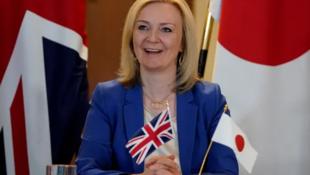英国国际贸易大臣特拉斯资料图片