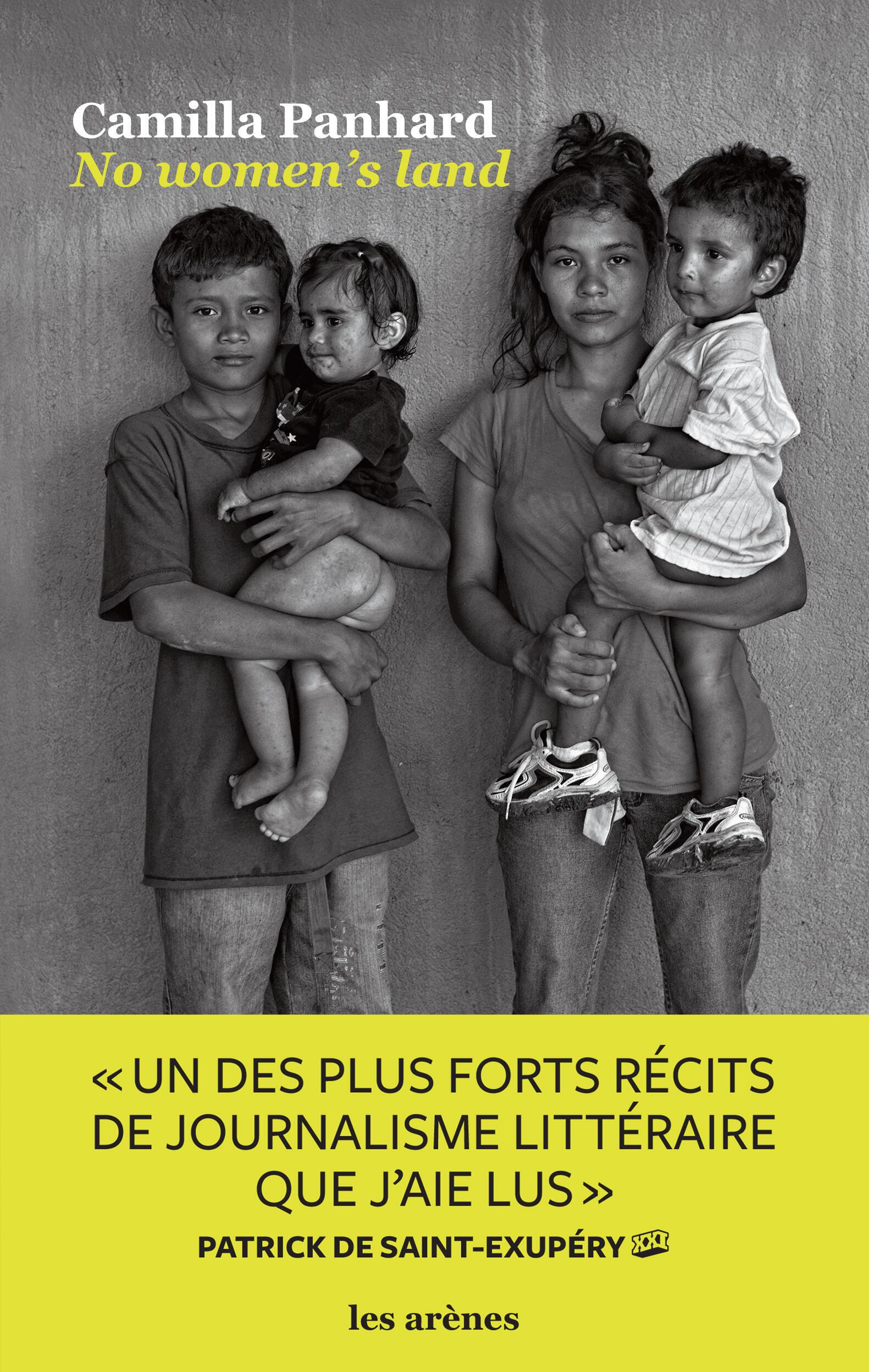 """Couverture de """"No women's land"""" de Camilla Panhard, aux éditions Les Arènes"""