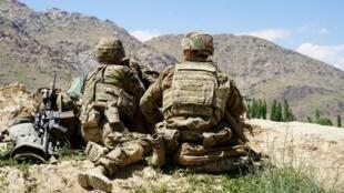 Wasu dakarun sojin Amurka a Afghanistan.