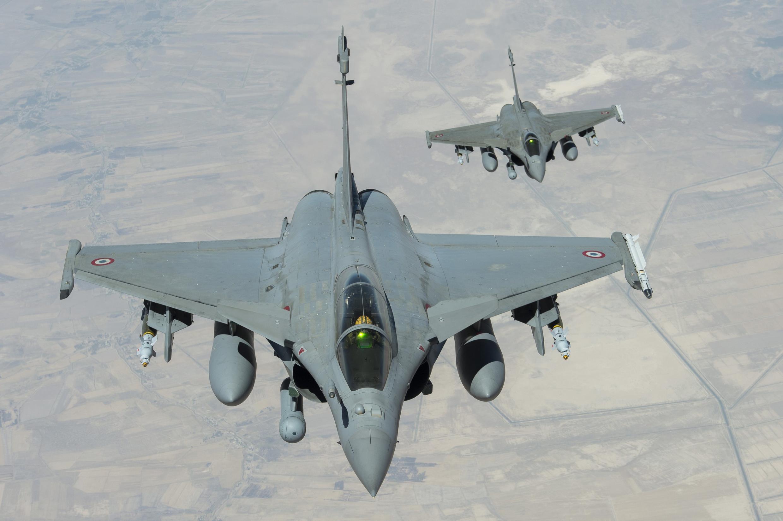 Chiến đấu cơ Rafale của Pháp tại Irak.