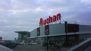 Auchan supermarket in Calais, France.