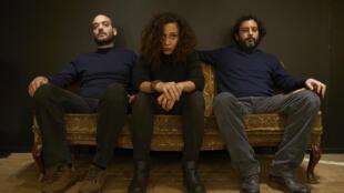 Lekhfa: Tamer Abu Ghazaleh (L), Maryam Saleh and Maurice Louca