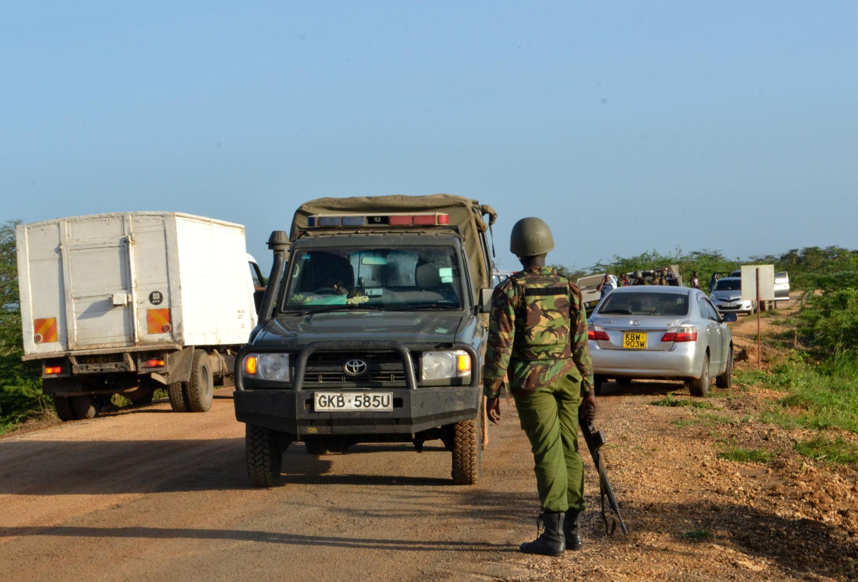 Askari wa jeshi la Kenya katika ulinzi mkali kwenye kaunti la Lamu pwani ya Kenya January 2 2020.