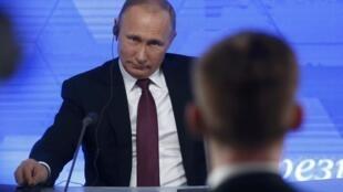 Владимир Путин на ежегодной пресс-конференции, 23 декабря 2016.
