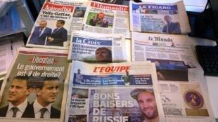 Diários franceses 28/08/2014