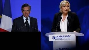 François Fillon et Marine Le Pen.
