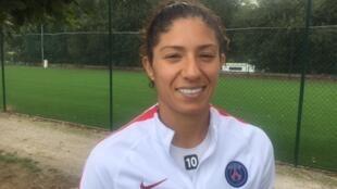 A atacante Cristiane, do PSG e da seleção brasileira.