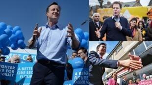 No Reino Unido, as pesquisas indicam que nenhum partido deverá obter a maioria absoluta necessária para assumir o governo.