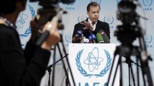 Glyn Davies, l'ambassadeur américain à l'Agence internationale de l'énergie atomique lors du conseil des gouverneurs
