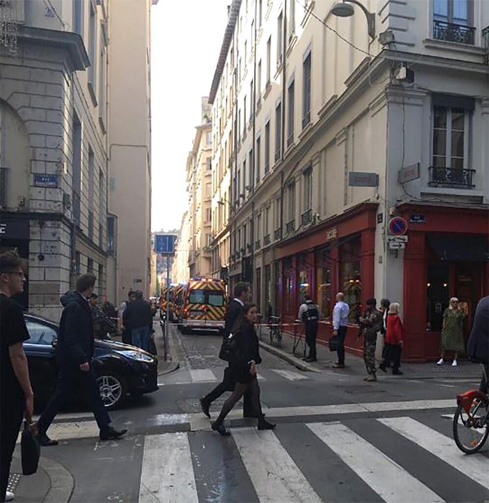 Место взрыва в Лионе 24 мая 2019