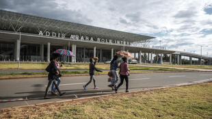Bole International Airport in Addis Ababa, Ethiopia -- since mid-March, 2020, the UN's International Organization for Migration (IOM) has registered 2,870 Ethiopian returnees, all but 100 of whom were sent back from Saudi Arabia