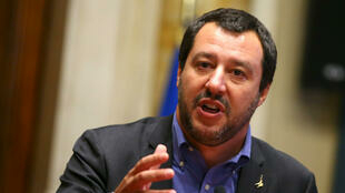 El ministro italiano del Interior y presidente de la Liga del Norte (extrema derecha), Matteo Salvini.