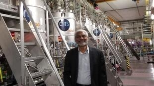 GANIL director Dr Navin Alahari at the SPIRAL 2 facility.