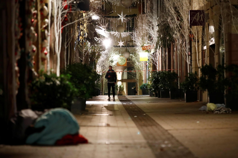 Đường Rue des Orfèvres trong khu phố cổ Strasbourg, Pháp, sau vụ khủng bố đêm 11/12/2018.