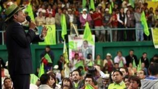 El Presidente de Ecuador Rafael Correa ha participado activamente en la campaña de promoción del Sí