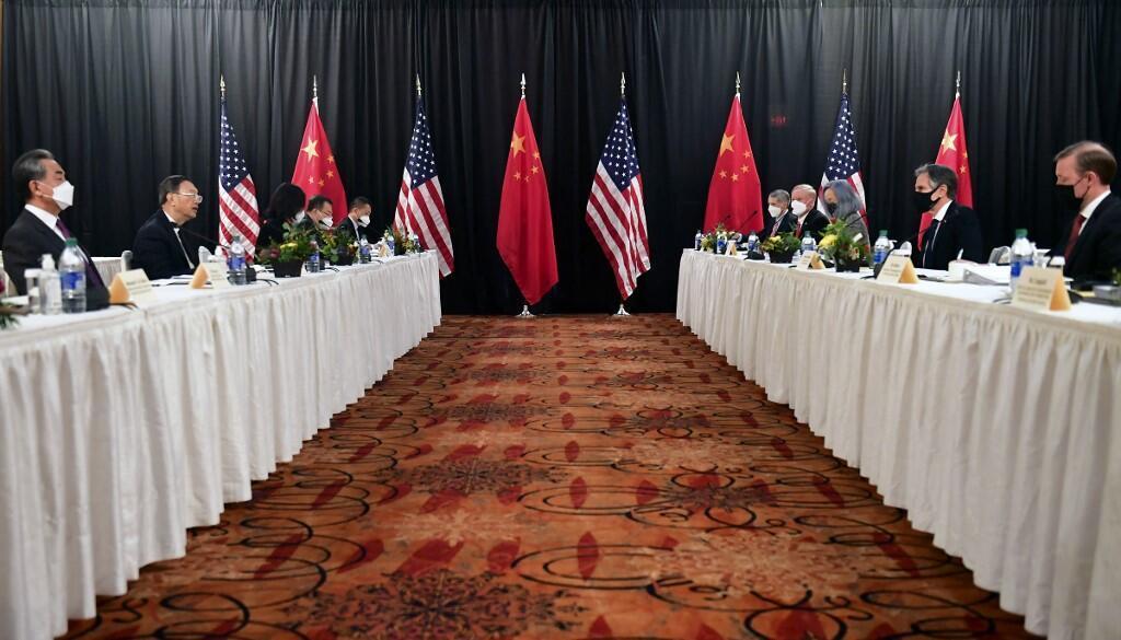 Réunion à Anchorage entre les États-Unis et la Chine