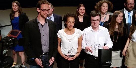 """Grégory Pacini, Rachida Brahim y Alexandre Artaud, los tres ganadores de la final francesa de """"Mi tesis en 180 segundos"""""""