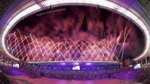 Sân vận động Incheon, Hàn Quốc rực rỡ trong đêm khai mạc Á Vận hội Asiad 17 năm 2014.
