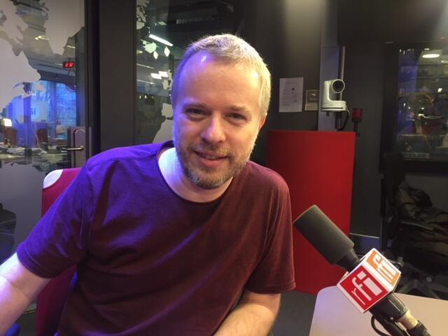 Nicolas Krassik nos estúdios da RFI Brasil, em 29/12/2017.