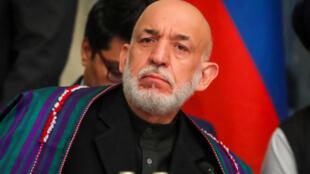 L'ancien président afghan Hamid Karzaï a participé aux deux journées de discussions à Moscou. le 5 février 2019 阿富汗前總統卡爾紮伊出席莫斯科會議 2019年2月5日