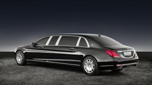 圖為德國豪華Mercedes Maybach S600 Pullman Guard型車