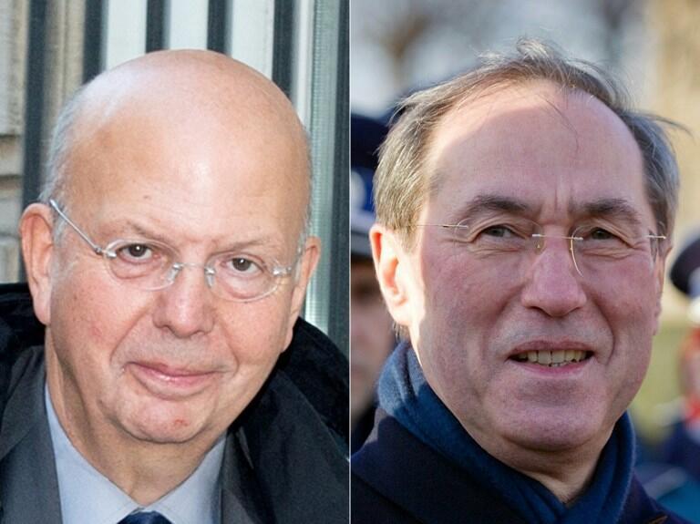 В Париже открылся процесс по делу «опросов Елисейского дворца». На фото: бывший генеральный секретарь Елисейского дворца Клод Геан (справа) и советник Николя Саркози Патрик Бюиссон (слева).