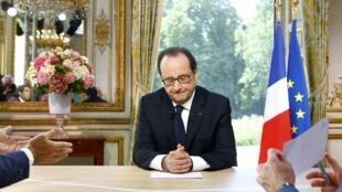 Президент Франции Франсуа Олланд, 14 июля 2016 г.