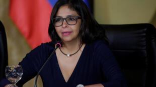 Delcy Rodríguez, chefe da diplomacia venezuelana, contestou a suspensão do país do Mercosul
