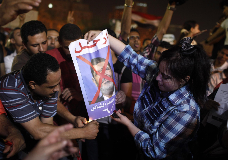 Manifestation contre le président Mohamed Morsi le 26 juin 2013, au Caire.