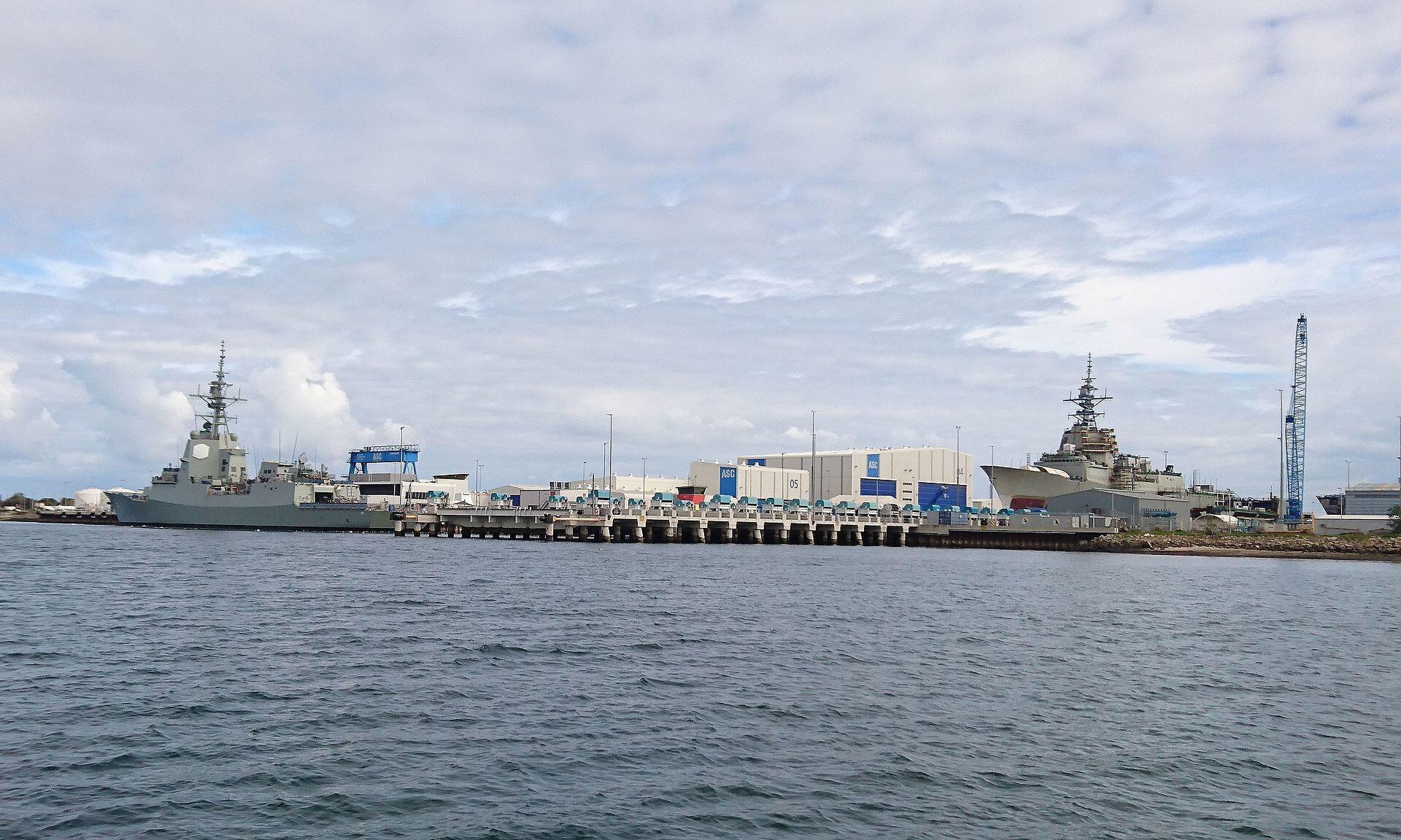 Một chiến hạm tại Nam Úc. Ảnh minh họa.