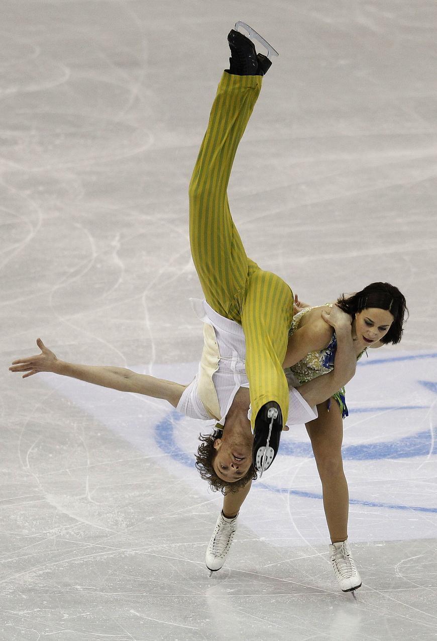 Натали Пешала и Фабиан Бурза во время тренировки 28/03/2012