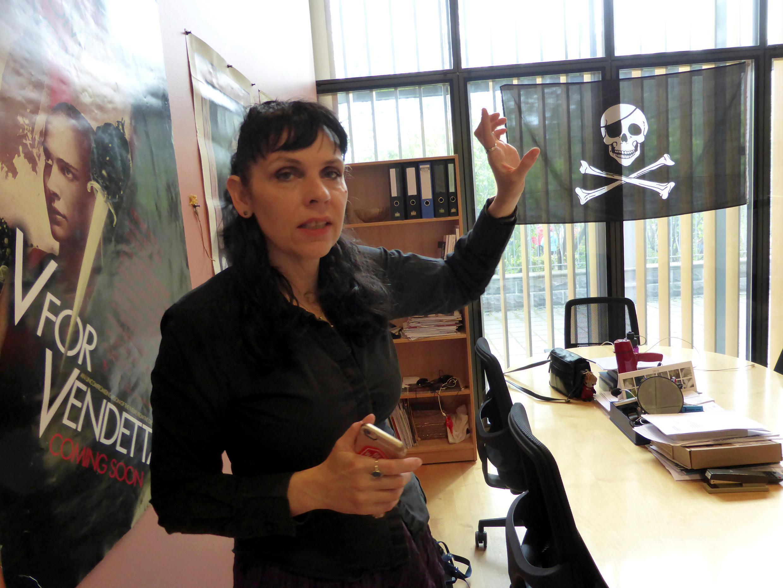 Birgitta Jonsdottir, líder del Partido Pirata. 25 de mayo de 2016.
