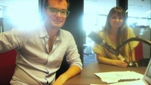 Alina Najlis y Enrique Avogadro en nuestros estudios