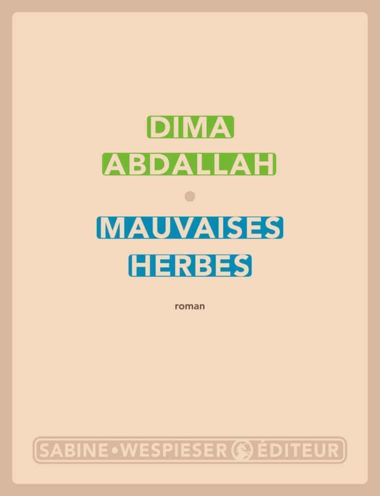 Couverture du roman de Dima Abdallah