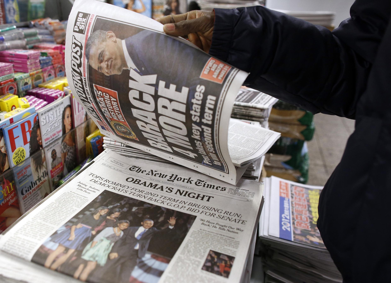 La réélection de Barack Obama à la présidence des Etats-Unis est à la Une de la presse française et internationale.