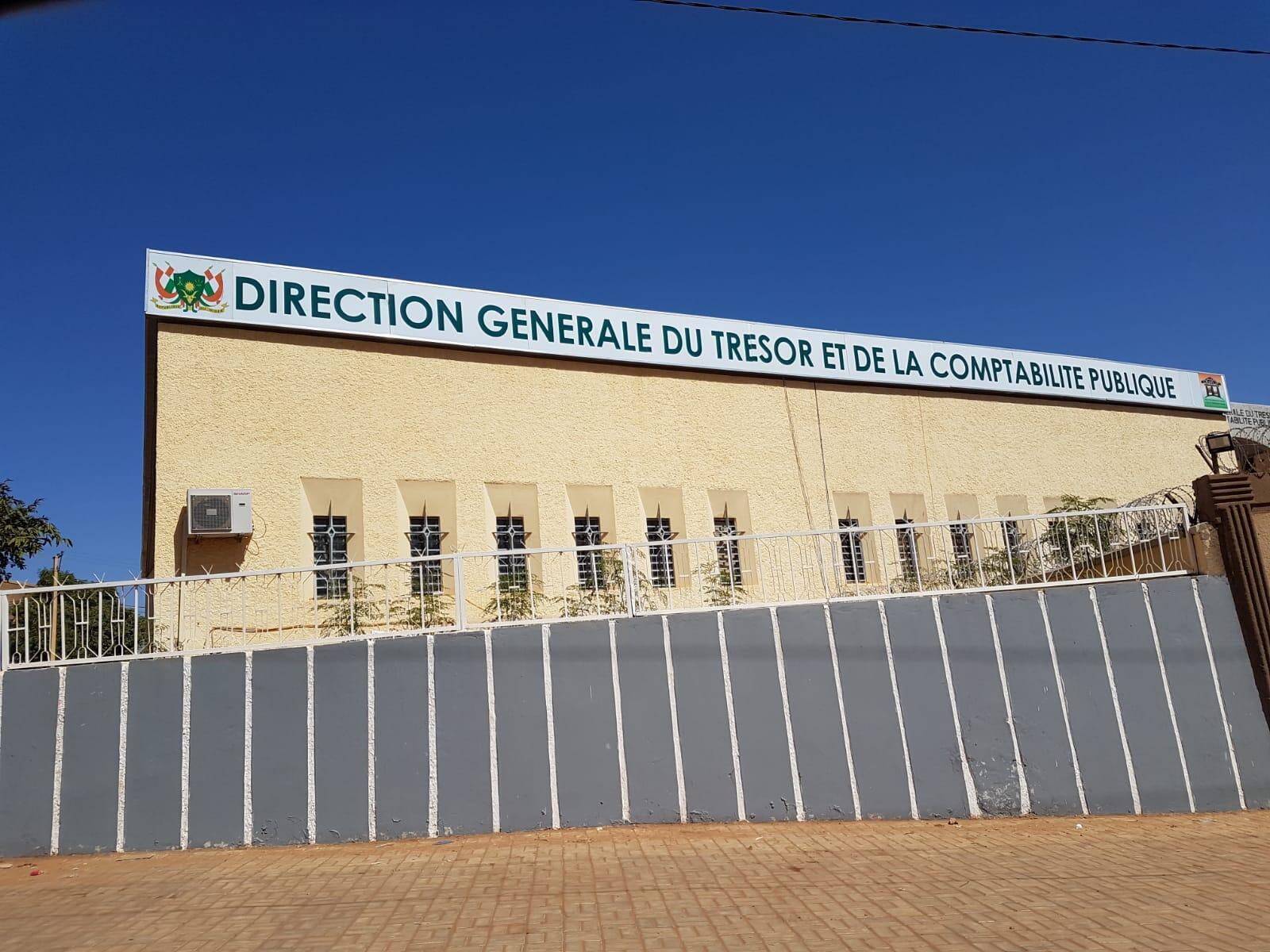 Le siège de la Direction générale du trésor et de la comptabilité publique à Niamey.