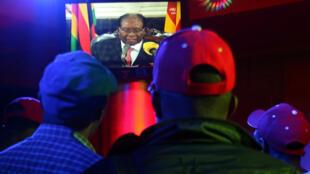 津巴布韋總統穆加貝周日向國民發表講話資料圖片
