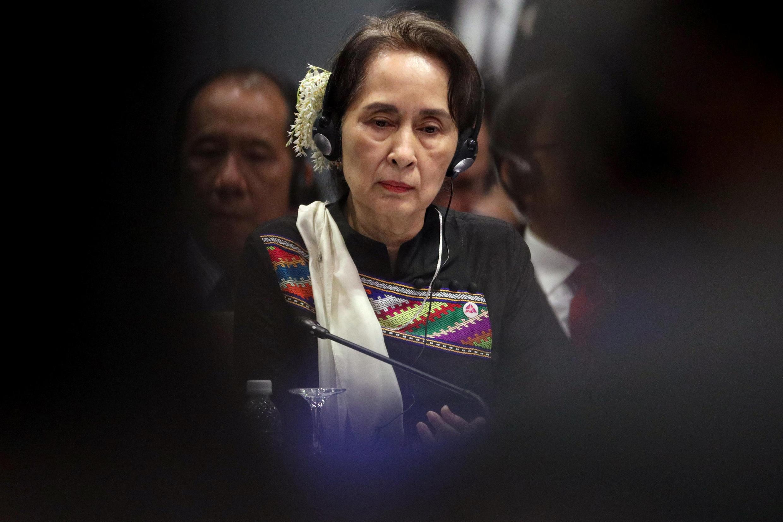 Lãnh đạo Miến Điện Aung San Suu Kyi tại Hội Nghị Thượng Đỉnh Asean, ở Singapore, ngày 15/11/2018.